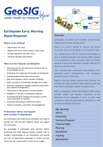Earthquake Early Warning Rapid Response