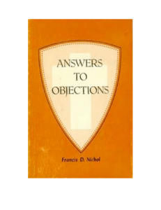 Answers To Objections