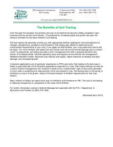The Benefits of Soil Testing