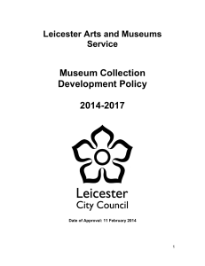 Museum Collection Development Policy 2014-2017
