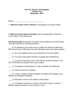 The 5 Themes of Geography Assessment