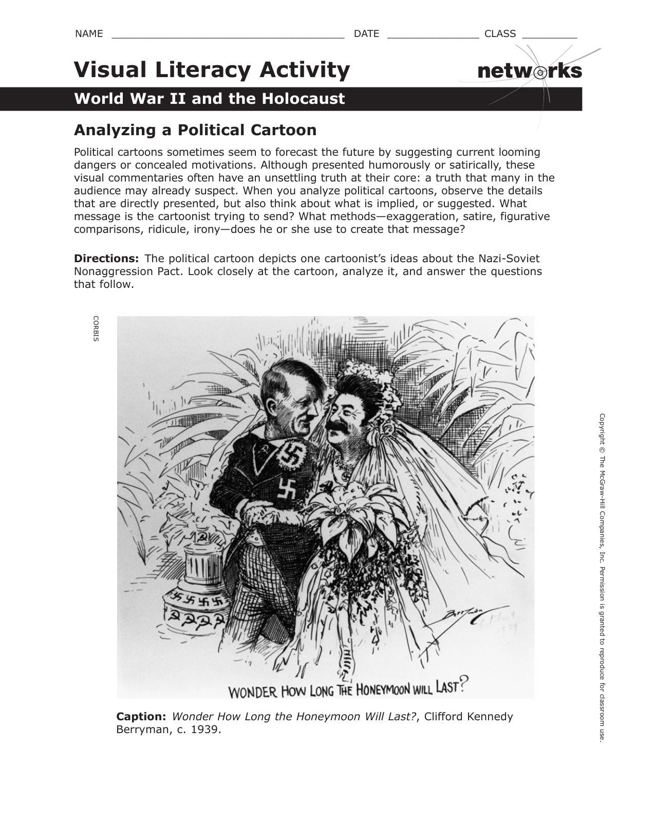 Analyze The Political Cartoon Answers
