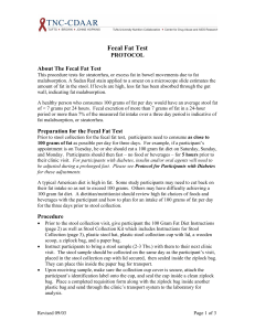 Fecal Fat Test