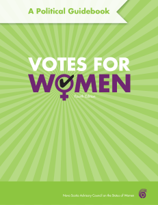 Votes for Women: A Political Guidebook