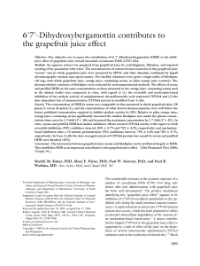 67Dihydroxybergamottin Contributes to the Grapefruit