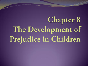Chapter 3 Theories of Prejudice