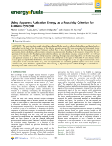 Using Apparent Activation Energy as a Reactivity