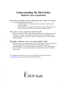 Diabetic Clear Liquid Diet