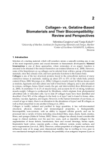 Collagen- vs. Gelatine-Based Biomaterials and Their