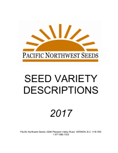 PNW Seed Variety Descriptions