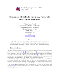 Journal of Integer Sequences - the David R. Cheriton School of