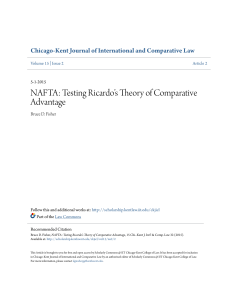 NAFTA: Testing Ricardoâ•Žs Theory of Comparative Advantage
