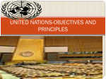 UNITED NATIONS-OBJECTIVES AND PRINCIPLES