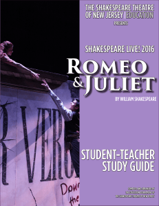 student-teacher study guide - The Shakespeare Theatre of New Jersey