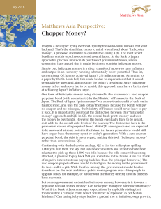 Chopper Money? - Matthews Asia