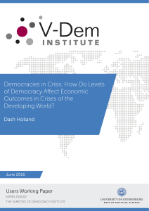 Democracies in Crisis: How do Levels of Democracy Affect - V-Dem