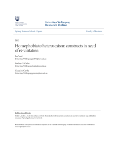 Homophobia to heterosexism: constructs in need