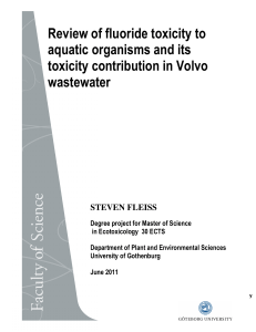 Review of fluoride toxicity to aquatic organisms and its toxicity
