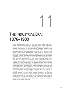 THE INDUSTRIAL ERA: