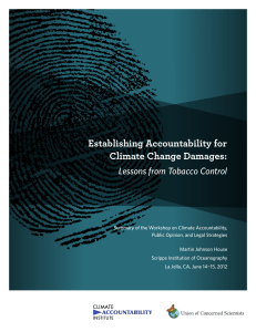 Establishing Accountability for Climate Change Damages: Lessons