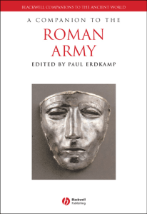 A COMPANION TO THE ROMAN ARMY Edited by