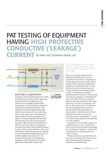 PAT testing of equipment with high leakage current