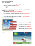 Second Semester Final Review ch. 17: the atmosphere Height and