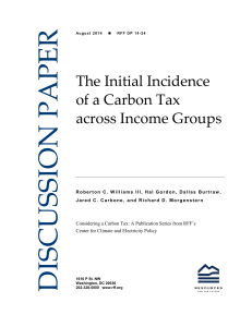 The Initial Incidence of a Carbon Tax across Income Groups