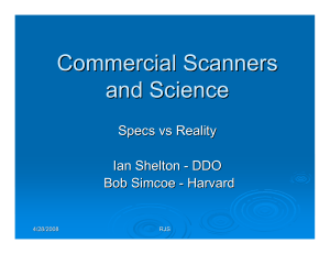 Robert J. Simcoe (2008), Commercial Scanners and Science