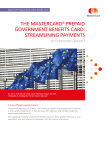 THE MASTERCARD® PREPAID GOVERNMENT BENEFITS CARD