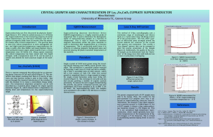Poster containing the research description and results