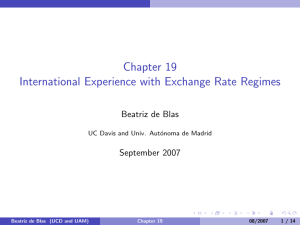 Chapter 19 International Experience with Exchange Rate Regimes