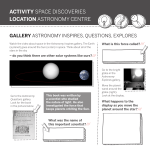 ACTIVITY SPACE DISCOVERIES LOCATION ASTRONOMY CENTRE