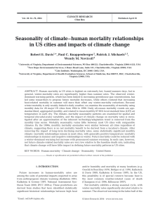 Seasonality of climate-human mortality relationships in US cities and