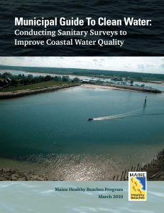 Municipal Guide To Clean Water: Conducting Sanitary Surveys to
