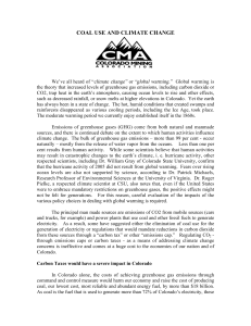 coal use and climate change - Colorado Mining Association