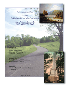A Preservation Plan for the Tebbs Bend Civil War Battlefield Taylor