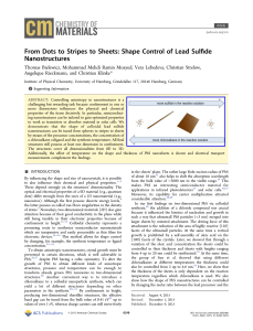 From Dots to Stripes to Sheets: Shape Control of Lead Sulfide