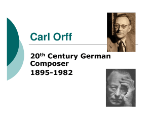 information about Carl Orff