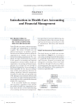 Introduction to Health care accounting and financial Management