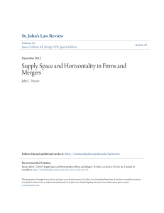 Supply Space and Horizontality in Firms and Mergers