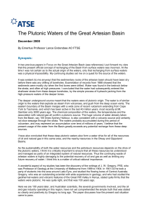 The Plutonic Waters of the Great Artesian Basin