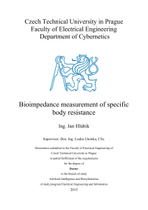 Bioimpedance measurement of specific body resistance