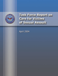 DoD Care for Victims of Sexual Assault Task Force Report, 2004
