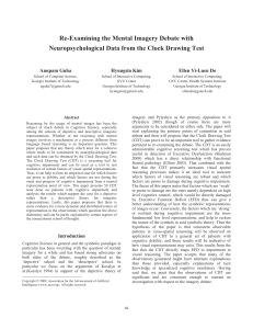 Re-Examining the Mental Imagery Debate with Neuropsychological