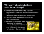 Mutualisms and climate change