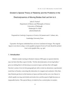 Einstein's Special Theory of Relativity and the Problems in the