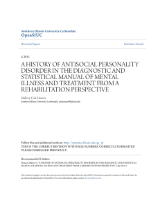 a history of antisocial personality disorder in the