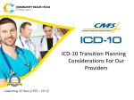 ICD-10 Transition Planning Considerations For Our Providers