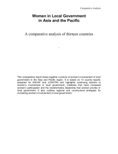 Women in Local Government in Asia and the Pacific